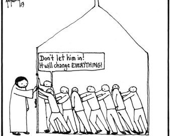 The Church versus Jesus CARTOON