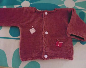 Old pink baby Cardigan size 3 months