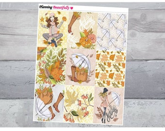 Fall Stickers, Autumn Stickers, Fall Planner Stickers, Autumn Planner Stickers, Autumn Decor, Fall Decor, Erin Condren Stickers, Stickers