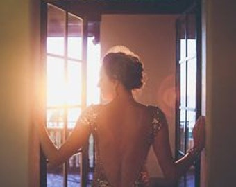 Bacall - Rose Gold Paillettes Backless Wedding Gown