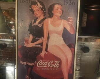 Coca-Cola 50th Anniversary Advertising Tin