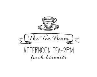 Tea Shop Business Card Stamp