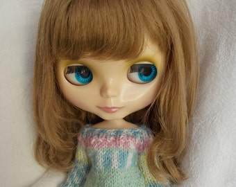 Handmade outfit sweater available for pure neemo (xs, s, m and l body),momoko, blythe, licca,barbie, fashion royalty, pullip, bjd...