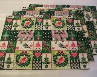 Christmas Patchwork Placemats Set