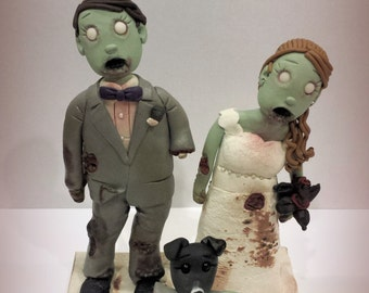 Zombie Couple Wedding Cake Topper Halloween, Undead