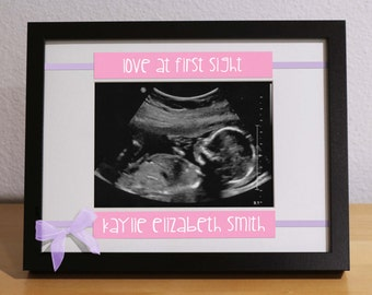 Ultrasound Frame, Sonogram Frame, Custom Frame, Personalized Gift, New Baby Girl, Newborn Gift, Expecting Parents, First Time Parents Gift