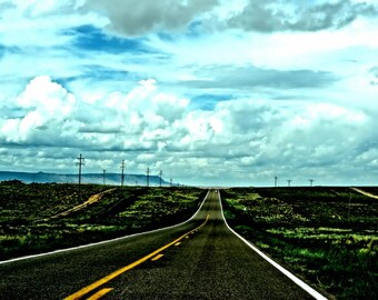 Route 59, Navajo County, Long Road, Landscape photography print