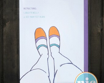 See Your Feet Again - Pregnancy Card