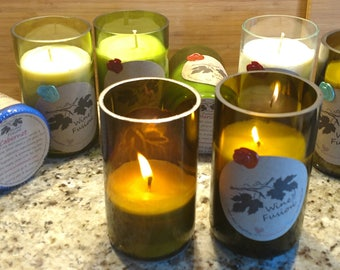 Pear Prosecco 20 Hour Candles VEGAN CRUELTY FREE Choose Your Rim Accent!  See Beautiful Flame