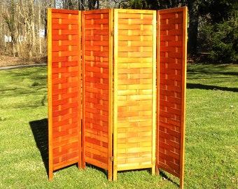Vintage Paneled Wood Room Divider - Pick up Only!