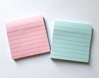 Basic Ruled Sticky Note, Sticky Memo, Notepad