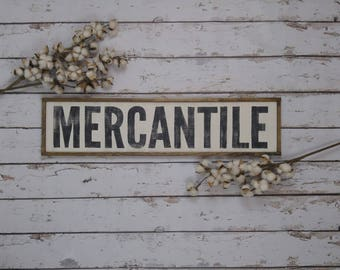 Wood Mercantile Sign, Kitchen Wall Decor, Mercantile Sign, Farmhouse Decor, Farmhouse Kitchen, Wood Kitchen Sign, Custom Wood Sign
