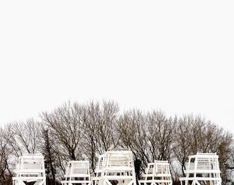 lifeguard chairs, Jones Beach, NY
