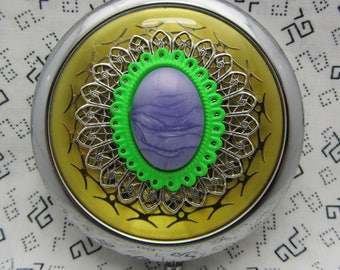 Compact Mirror Mardi Gras Bridesmaids Gift Comes With Protective Pouch 2