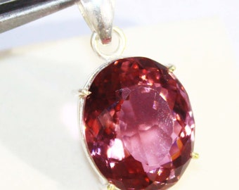 65.10Ct Certified Fantastic Alexandrite Pendant 925 Solid Sterling Silver AU4293