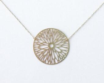 Firewheel Flower Blossom Necklace | ATL-N-134