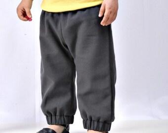 city pant - baby/toddler - slate dark grey - unisex boy/girl bottoms - autumn fall childrens clothing