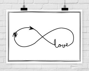 Kunstdruck Poster Unendlichkeitssymbol Liebe