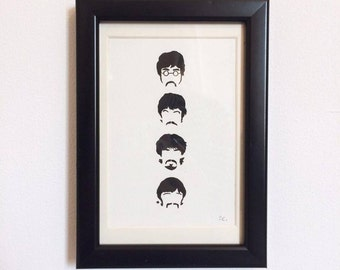 FRAMED - Beatles // gifts for her // gifts for him // home decor // music // wall art