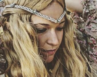 Galadriel Elven Ivy leaf Celtic Circlet Tiara Silver or Gold