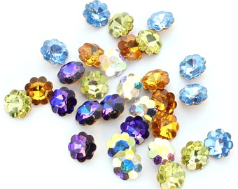 Swarovski flower 8mm and 10mm with no hole.  Price is for 10 stones