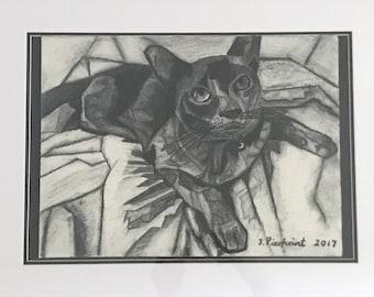 Cubist Burmese Cat