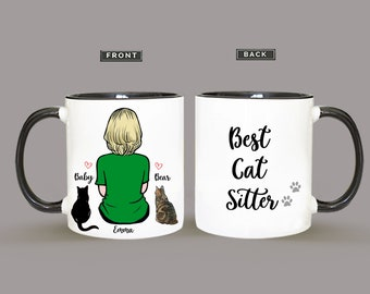 Personalized Cat Mug, Cat Mug, Custom Cat Mom, Cat Lover Gift, Gift For Cat Mom, Gift For Cat Dad