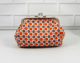 Coin purse, metal frame pouch, change purse, clasp pouch, handmade in France, clutch purse