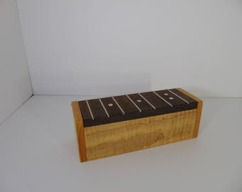 guitar fingerboard box wooden box wenge and tiger maple