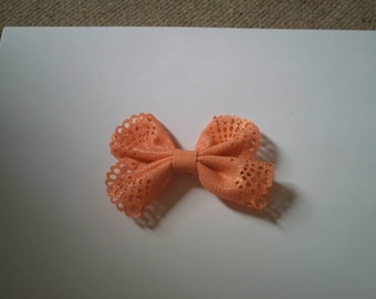 pretty bow barrette Butterfly apricot