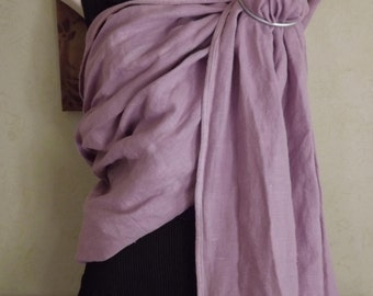 Lilac linen Ring Sling Baby Carrier Breastfeeding Babywearing Attachment Parenting Newborn Toddler