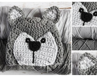 Newborn, Infant, Youth, Teen, Adult Sized Crochet Wolf or Husky Hat