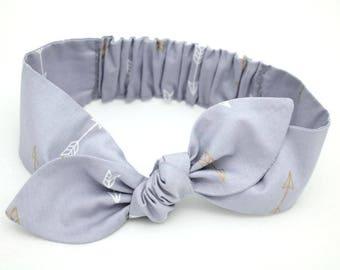Grey Arrow headband, Womens Headband, Adult Headband, Headband for Women, Girl Headband, Headbands, Girl, Women, Headband, Gold