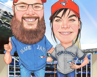 Custom caricature 2 person