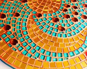 The sky disc of NEBRA in original size 30 cm as a mosaic