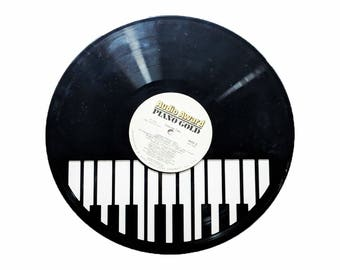 Piano Vinyl Record Art