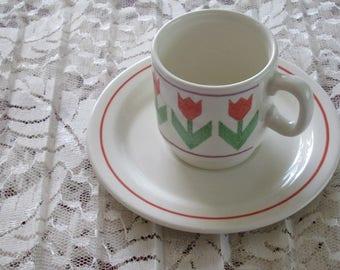 Pagnossin Earthenware Espresso Cup & Saucer Set