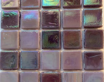 "15mm (3/5"") Amethyst and Lavender Purple Opalescent Glass Mosaic Tiles//Mosaic Supplies//Mosaic Pieces//Mosaic"