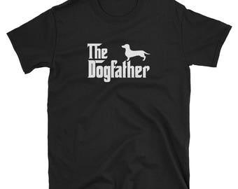 Dachshund Shirt Gift Dogfather Tee