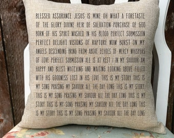 customized song lyric pillow- hymn-  personalized wedding gift- anniversary gift- baby shower- confirmation