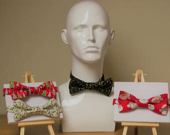Christmas themed adjustable adult Bowtie