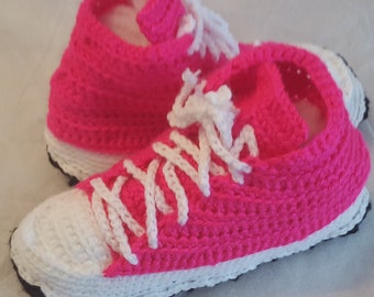 High Top Sneaker Slippers / Booties / Houseshoes / Sneakers / Handcrafted / Shoes / Made to Order / All Sizes / OOAK