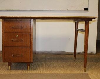 SALE Desk Mid century modern Danish desk vintage furniture  scandinavian furniture vintage desk wood desk danish furniture/ office furniture