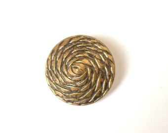 Cable Swirl Large Gold Button