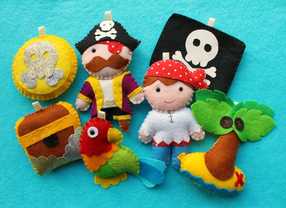 Pirate Felt Garland Pattern