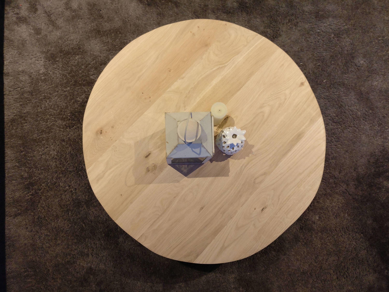 Coffee Table In Oak Wood Full Blade Scandinavian Type With # Meuble Avec Vw