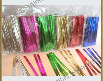 """600pcs 4"""" Metallic Twist Ties - mixed 6 colors"""