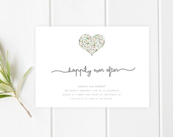 Engagement Party Invitation, Printable Engagement Party Invitation, Trendy Printables,  Custom Engagement Invite, Happily Ever After [277]