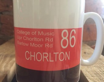 Chorlton Manchester - No 86 Bus Mug - Retro Design
