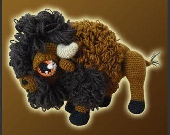 Amigurumi Pattern Crochet American Bison Buffalo DIY Digital Download